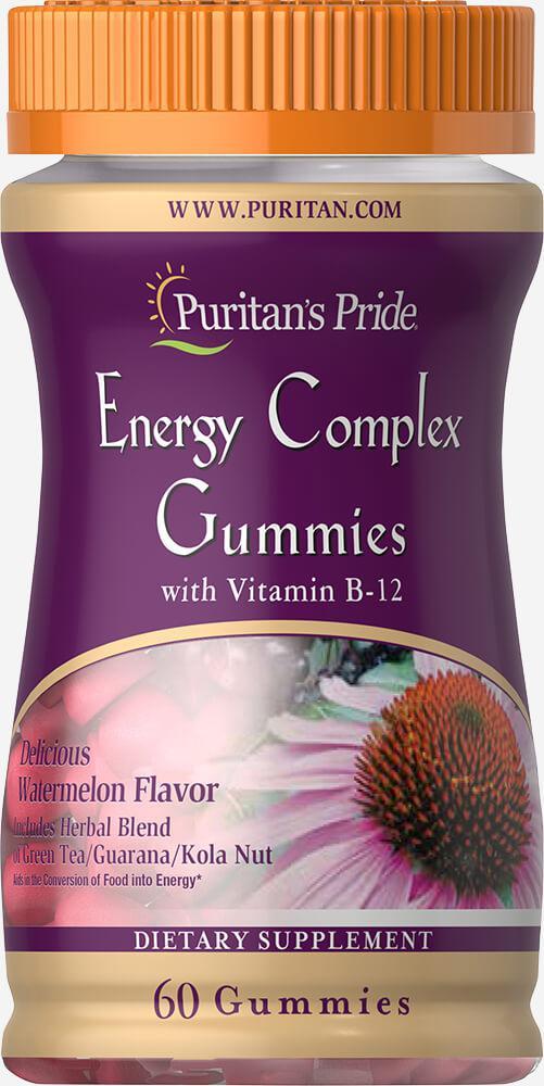 Энергетический комплекс с витамином В12, Puritan's Pride, 60 жевательных конфет