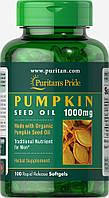 Масло тыквенных семечек, Organic Pumpkin Seed Oil 1000 mg, Puritan's Pride, 100 капсул