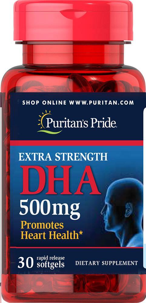 БАД для  суставов, Extra Strength DHA 500 mg, Puritan's Pride, 30 капсул