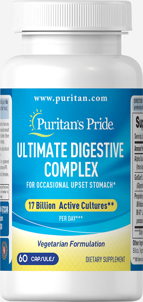 Пищеварительный комплекс, Ultimate Digestive Complex, Puritan's Pride, 60 капсул