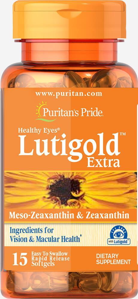 Здоровье глаз с Зеаксантином, Healthy Eyes® Lutigold™ Extra with Zeaxanthin, Puritan's Pride, 15 капсул