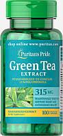 Экстракт Зеленого чая, Green Tea Standardized Extract 315 mg, Puritan's Pride, 100 капсул