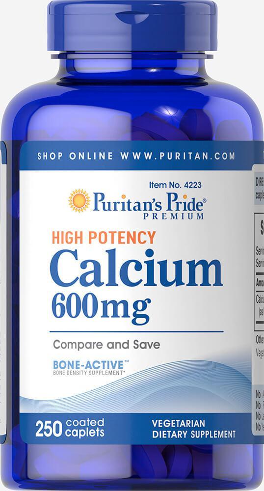 Кальция карбонат, Calcium Carbonate 600 mg, Puritan's Pride, 250 таблеток