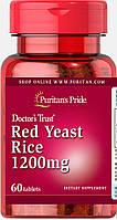 Красный дрожжевой рис, Red Yeast Rice 1200mg, Puritan's Pride, 60 таблеток