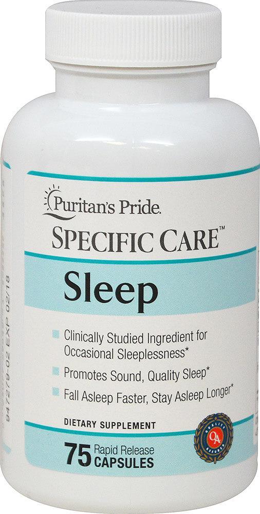 БАД от бессонницы, Specific Care™ Sleep, Puritan's Pride, 75 капсул