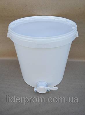 Отстойник для меда 30 л. полипропиленовый с краном, lyson (Польша), фото 2
