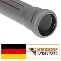 Труба канализационная, внутренняя, серая, Ostendorf HT, 40*500 мм (Германия)