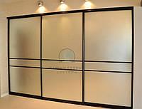Раздвижные двери на шкаф-купе. Фасады с наполнением зеркало, фото 1