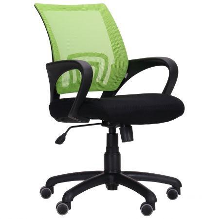 Крісло Веб сидіння Сітка чорна, спинка Сітка салатова (AMF-ТМ)