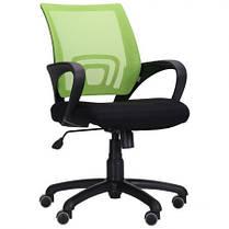 Кресло Веб сиденье Сетка черная, спинка Сетка салатовая (AMF-ТМ), фото 2
