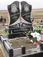 """Памятники двойные с крестом - """"Голуби"""""""