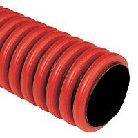 90мм Двустенная гибкая труба Копофлекс красно-черная KF 09090 BA (50м), фото 1