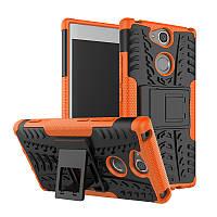 Чехол Sony XA2 / H4113 / H4133 / H3113 / H3123 / H3133 противоударный бампер оранжевый