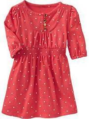 Оранжевое платье в горошек рукав 3/4 (Размер 4Т)  Оld navy (США)