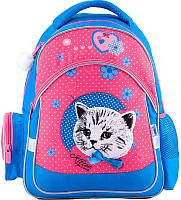 Рюкзак для школы Kite Pretty kitten K18-521S-2, 14 л голубой