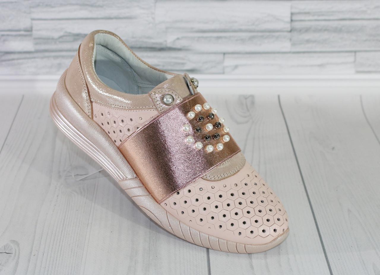 01dbab614 Кроссовки с жемчугом. Натуральная кожа 1854 - Интернет магазин обуви от  производителя в Харькове и