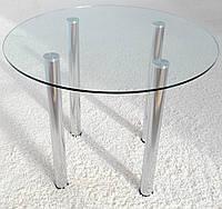 """Стол обеденный стеклянный на хромированных ножках Maxi DT K 900 """"прозрачный"""" стекло, хром, фото 1"""