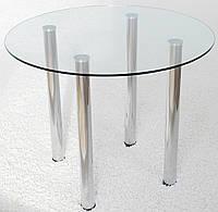 """Стол обеденный Maxi DT K 900 """"прозрачный"""" стекло, хром"""