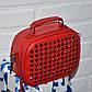 Красная сумочка мессенджер, с камнями, стильная сумка 2019 на цепочке, фото 2