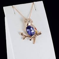 Превосходный кулон с кристаллами Swarovski + цепочка, покрытые золотом 0831