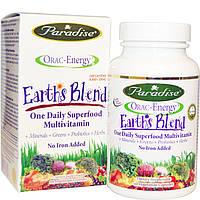 Paradise Herbs, Энергия ORAC, Earth's Blend, ежедневный сверхпитательный мультивитамин, 60 капсул на растительной основе