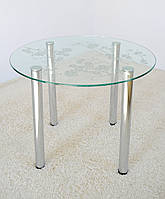 """Стол обеденный Maxi DT K 900 """"сакура"""" стекло, хром, фото 1"""
