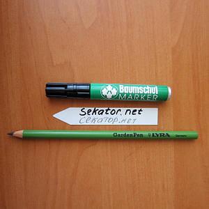 Маркери і олівці для садівництва