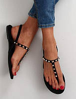 Женские сандалии вьетнамки с заклепками, Англия.  р39, фото 1