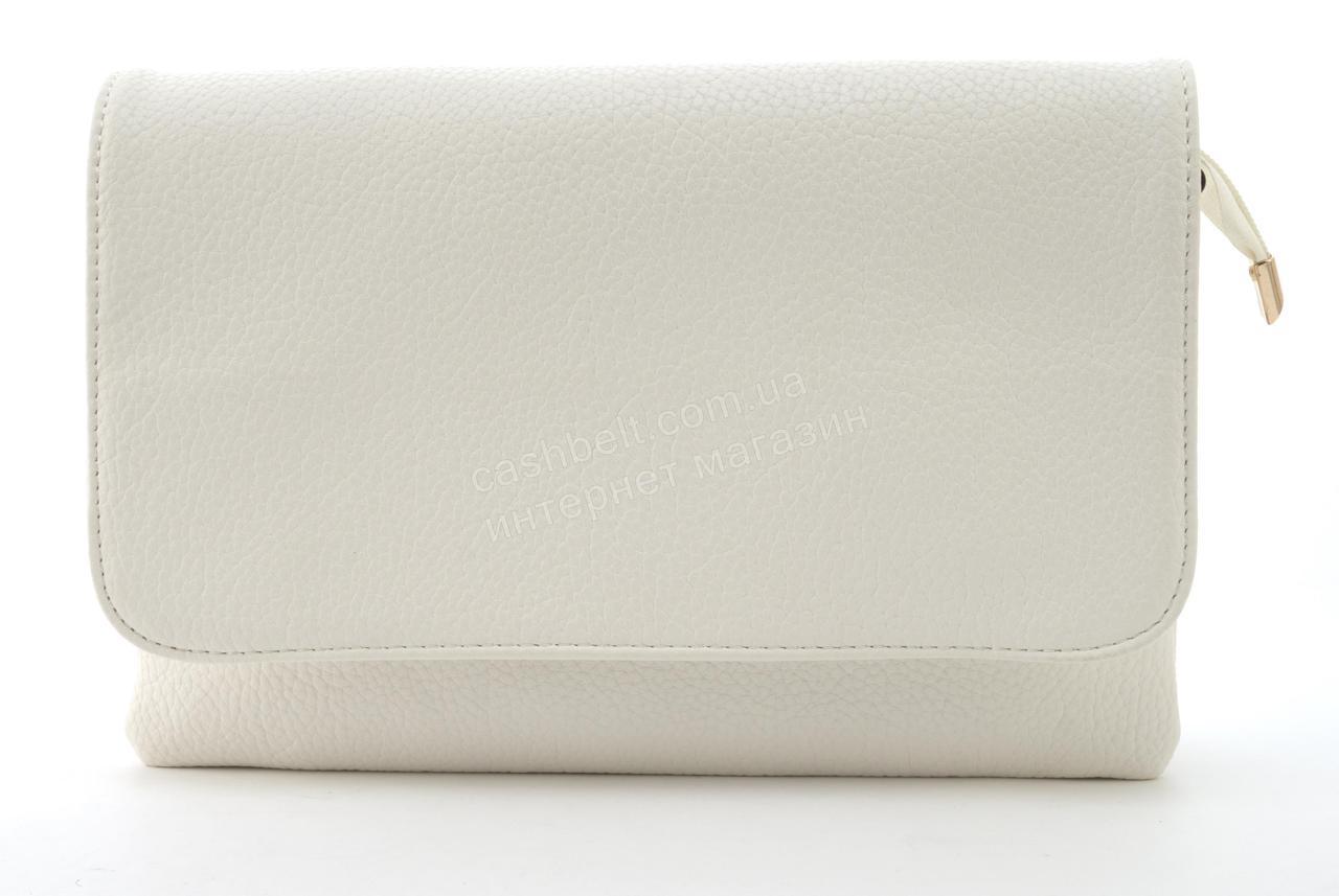 Небольшая вместительная женская сумочка из эко кожи Little Pigion art. 8020 белая