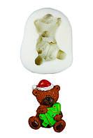 """Молд силиконовый """"Медвежонок с елкой"""" 5,5 см 7,2 см"""