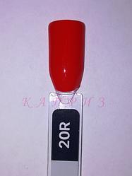 """Гель лак """"Basic collection"""" 8мл, KODI RED 20R (оттенки красного)."""