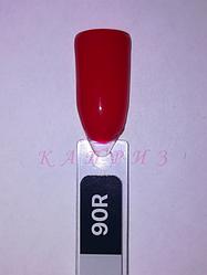 """Гель лак """"Basic collection"""" 8мл, KODI RED 90R (оттенки красного)."""