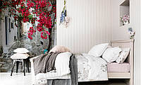 Бумажные фотообои в спальню