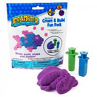 Набор Нано кинетический песок  Mad Mattr,фиолетовый,формы шприцы, фото 1