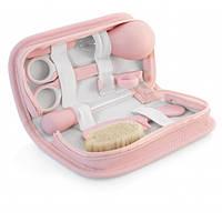 Набор по уходу за малышом Baby kit в косметичке, Miniland Baby цвет розовый, 7 предметов