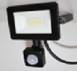 Прожектор с датч. движ. Ultralight SPG 10, PIR, Slim, чорний