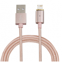 Магнитный кабель USB 2.0/Lighting, 1m, 2А, Gold, Blister