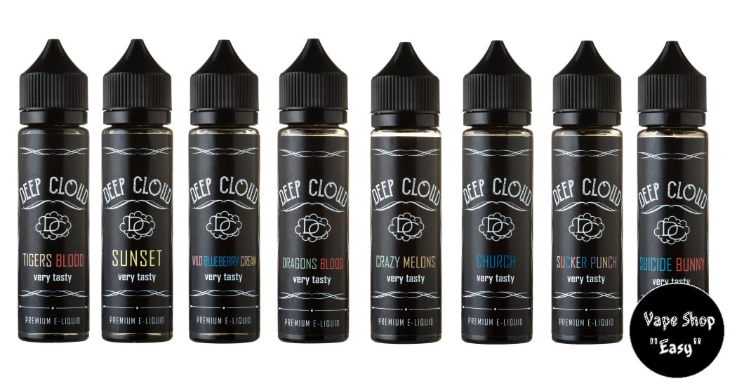 Deep Cloud - 60 ml Премиум жидкость (заправка) для электронных сигарет\вейпа.