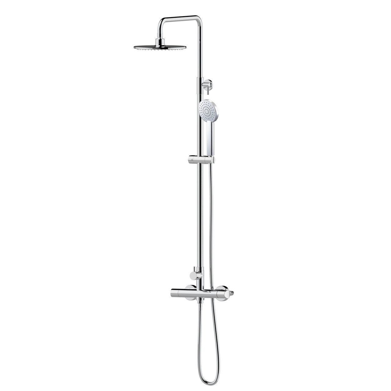 CENTRUM система душевая  (смеситель-термостат для душа, верхний и ручной душ 1режим, шланг )