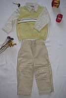 Костюм рубашка брюки жилет Little Guys рост 92 см желтый+белый+бежевый 07132, фото 1
