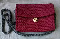 Вязаная женская сумка кросс-боди