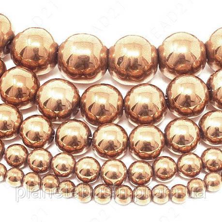 8 мм Гематит, CN353,  Натуральный камень, бусиы, Форма: Шар, Отверстие: 1 мм, кол-во: 54-55 шт/нить, фото 2
