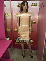 Женское платье с костюмной ткани Poliit 8208, фото 1