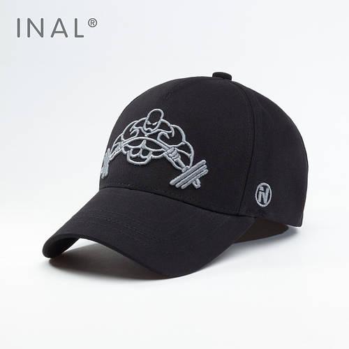 Кепка бейсболка, Iron Muscle, Хлопок, Черный, Inal