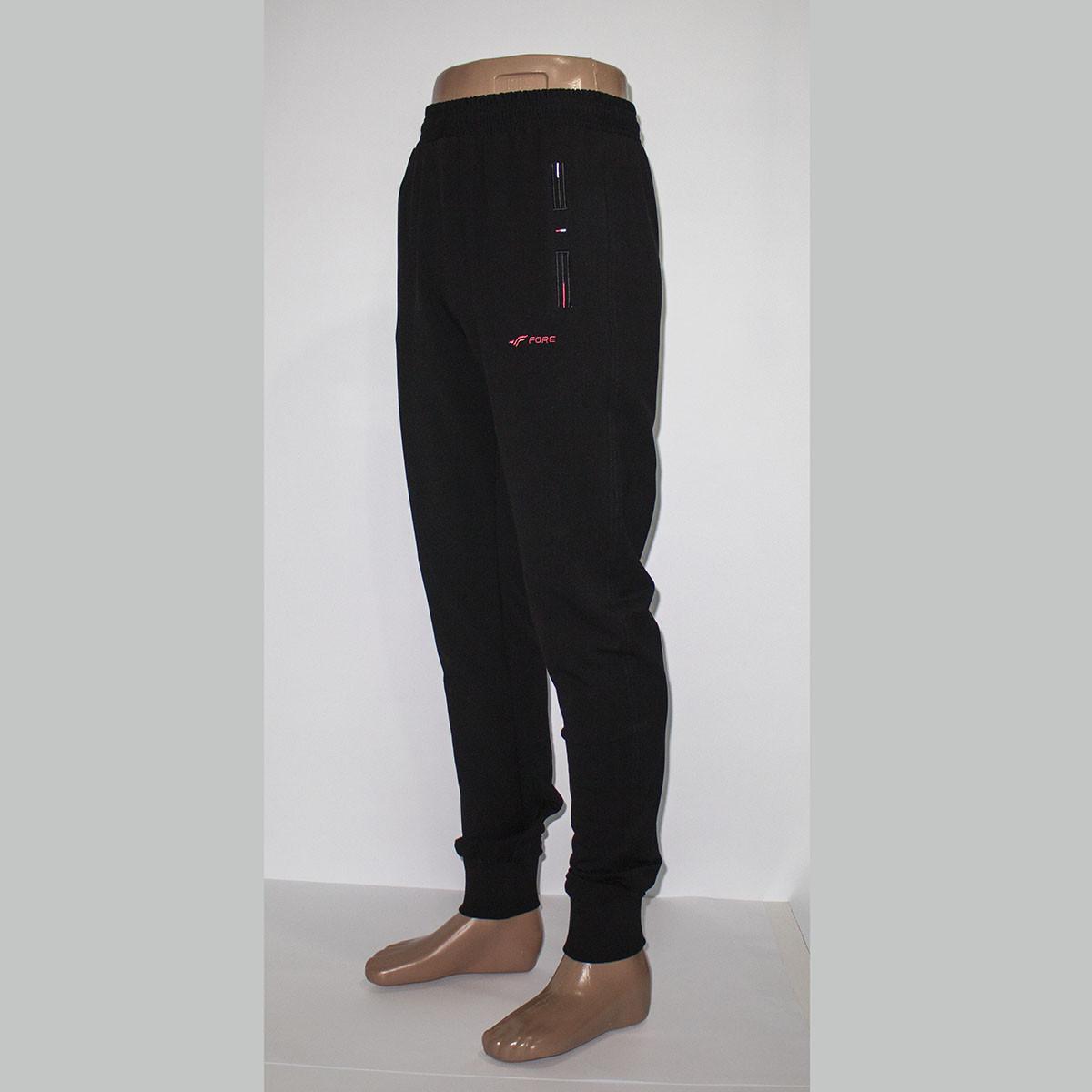 e236f2f7 Трикотажные черные мужские спортивные штаны манжет тм. FORE 9492N ...
