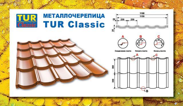 TUR-Classic Металлочерепица