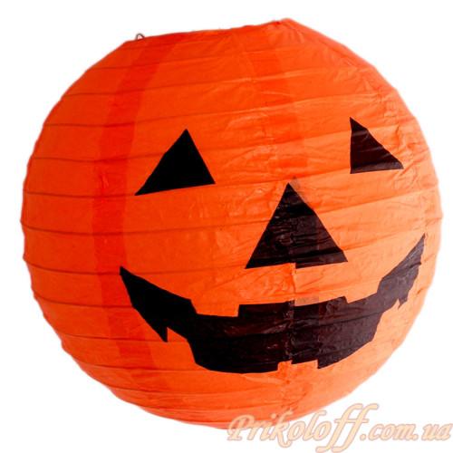 Шар декор злая тыква светящийся на Хеллоуин