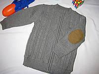 Вязаный жакет на флисе Wonder Kids оригинал рост 104 см серый 07134, фото 1