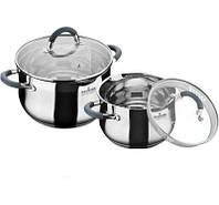 Набор посуды из нержавеющей стали на 4 пр. MAXMARK MK-BL6507А