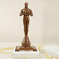 "Шоколадная фигура ""Оскар"" ЭЛИТНОЕ сырье. Размер: 88х105х272мм, вес 550г, фото 1"